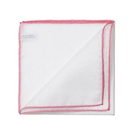 Les essentiels » Mouchoir de poche 8110 à bord rose