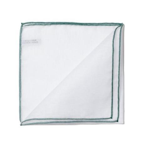 Les essentiels » Mouchoir de poche 8110 bord vert foncé