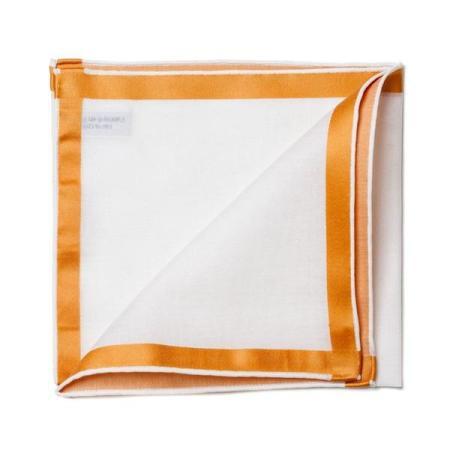 Les essentiels » Mouchoir de poche amalfi blanc à satin or