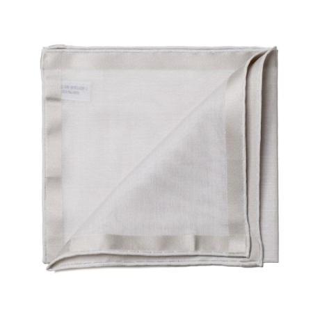 Les essentiels » Mouchoir de poche amalfi gris à satin argent
