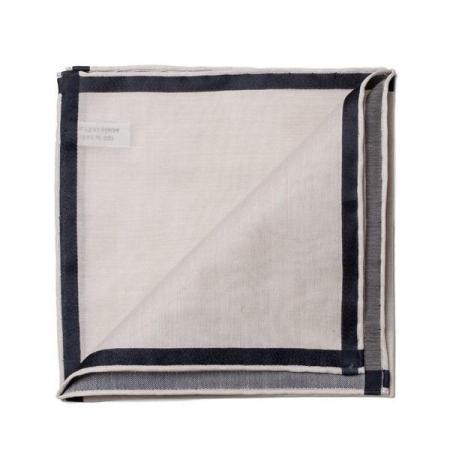Les essentiels » Mouchoir de poche amalfi beige à satin noir