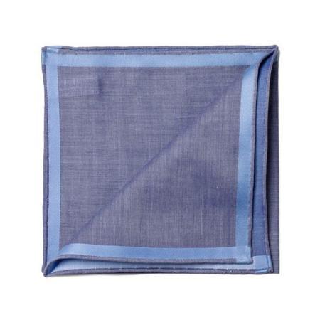 Les essentiels » Mouchoir de poche amalfi marine à satin ciel