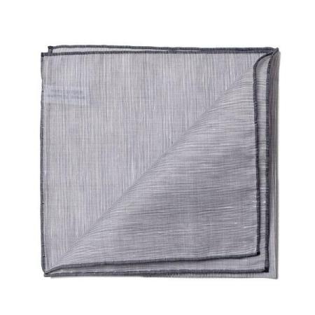 Les essentiels » Mouchoir de poche 8110 gris à bord gris