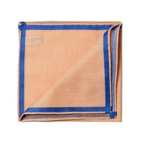 Les essentiels » Mouchoir de poche amalfi cuivre à satin bleu