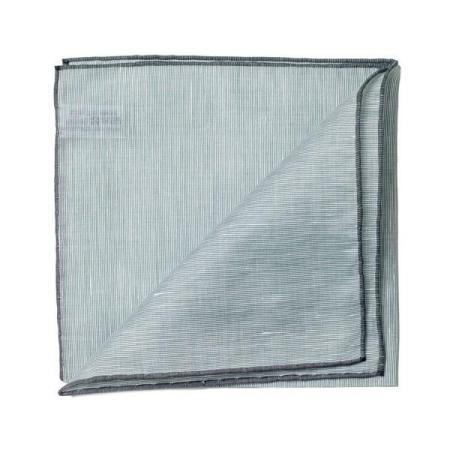 Les essentiels » Mouchoir de poche 8110 vert  bord gris