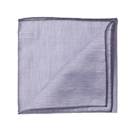 Les essentiels » Mouchoir de poche 8110 violet à bord gris
