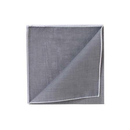 Les essentiels » Mouchoir de poche HR gris à bord blanc