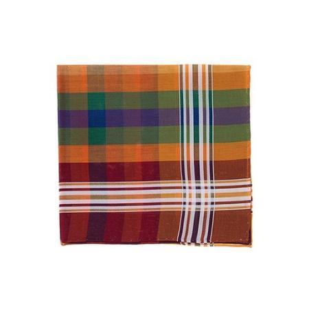 Les essentiels » Mouchoir de poche madras rouge