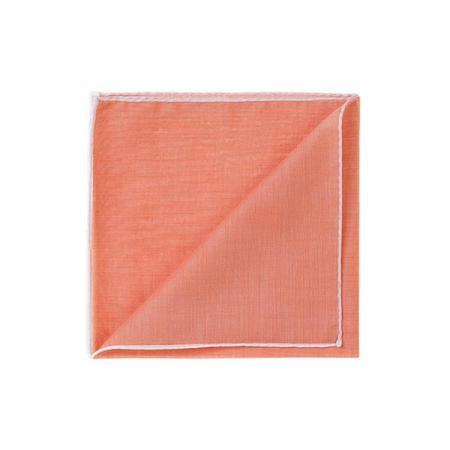 Les essentiels » Mouchoir de poche HR orange à bord blanc