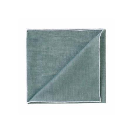 Les essentiels » Mouchoir de poche HR treillis à bord blanc