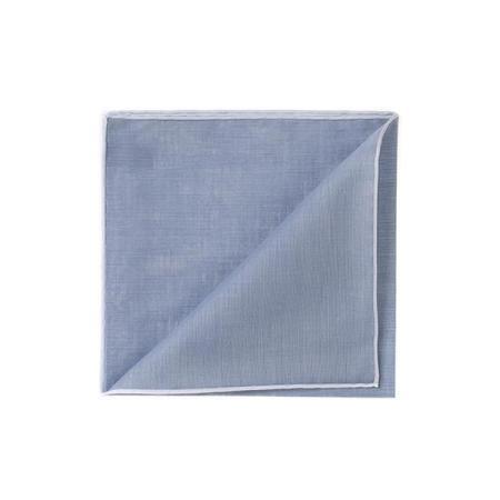 Les essentiels » Mouchoir de poche HR gris bleu à bord blanc