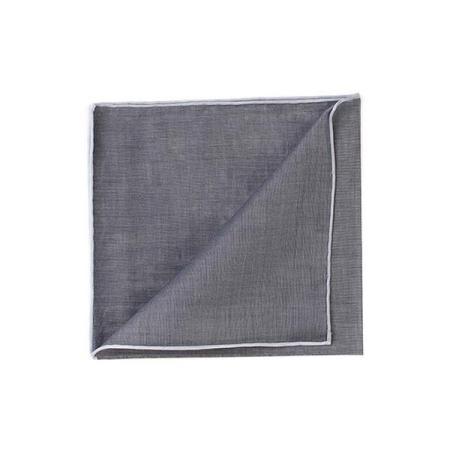 Les essentiels » Mouchoir de poche HR anthracite à bord blanc