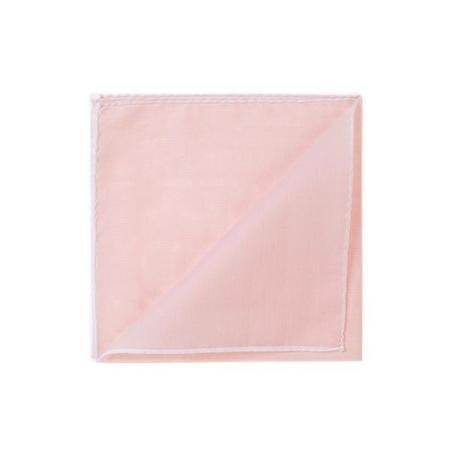 Les essentiels » Mouchoir de poche HR rose clair à bord blanc