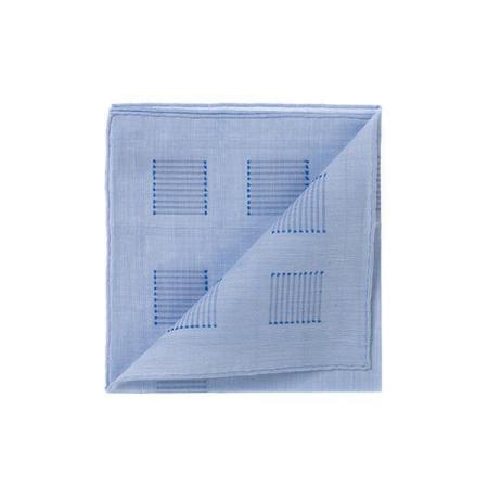 Les essentiels » Mouchoir de poche heracles ciel fil coupé bleu